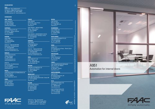 A951 Automation for internal doors