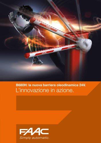 B680H: la nuova barriera oleodinamica 24V