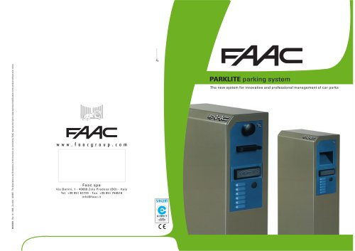 CAR PARKING SYSTEMS  Parklite PL controller