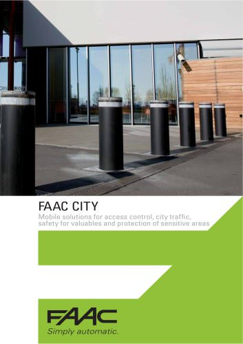 FAAC CITY - Traffic bollards