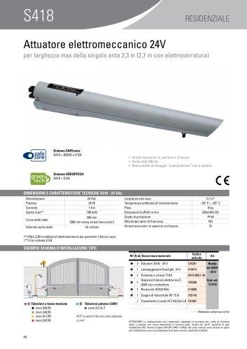S418 - 24 V Attuatore elettromeccanico