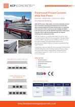 Prestressed Precast Concrete Wide Slab Floors
