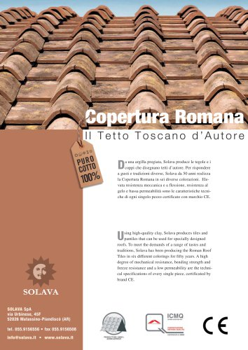 Vernaccia and Sangiovese roof leaflet