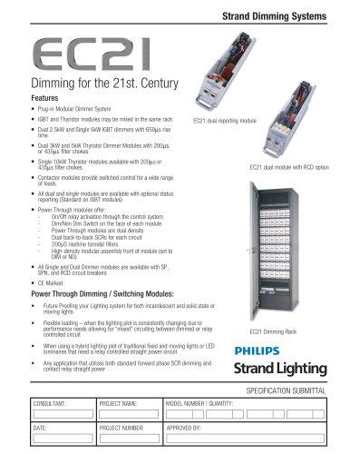EC21 Dimming System - EC21 Power Through & Dimmer Modules