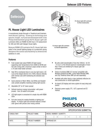 PL House Light LED Luminaire