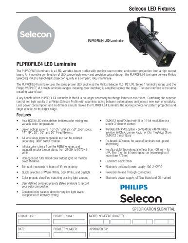 PLPROFILE4 LED Luminaire