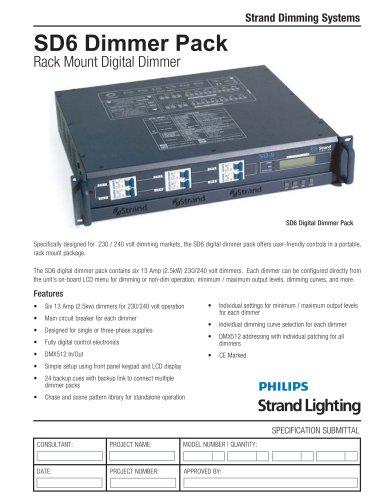 SD6 Dimmer Pack - (230V)