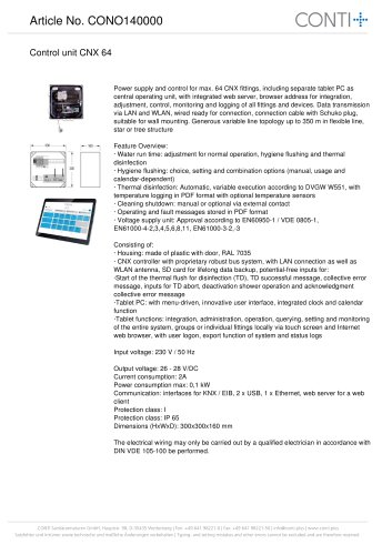 Control unit CNX 64