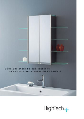 CUBE stainless steel mirror cabinets