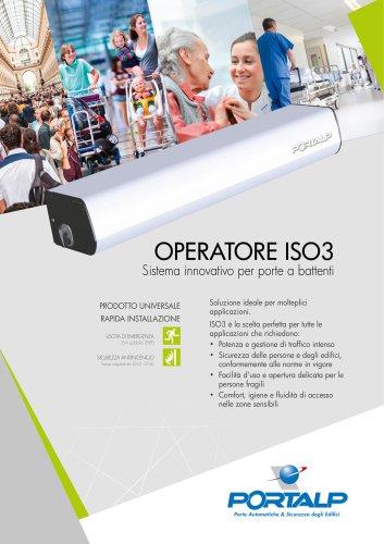 ISO3 Sistema elettromeccanico per porte a battenti