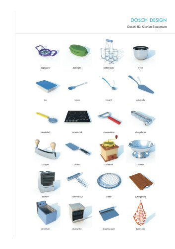 Dosch 3D: Kitchen Equipment
