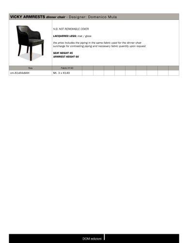VICKY ARMRESTS dinner chair