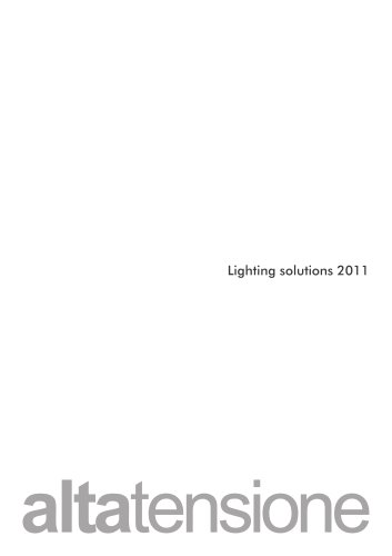 Altatensione Lighting Solution 2011
