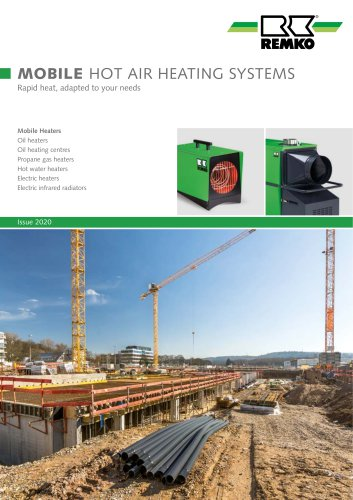 MOBILE HOT AIR HEATING SYSTEMS