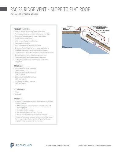 PAC SS Ridge Vents