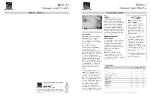 PROPINK® Reinforced Insulating SheathinG