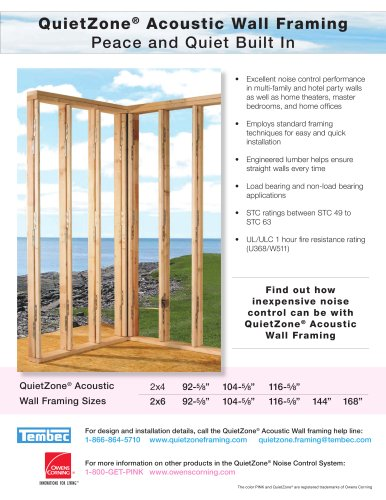 QuietZone® Acoustic Wall Framing