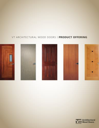 vt architectural wood doors / PRODUCT OFFERING
