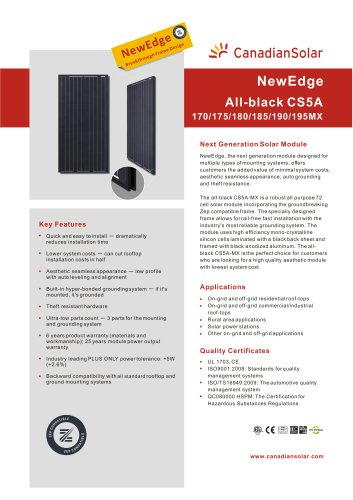 NewEdge All-black CS5A-MX