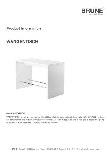 WANGENTISCH Model 4600