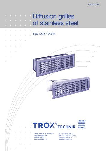 Diffusion grilles of stainless steel