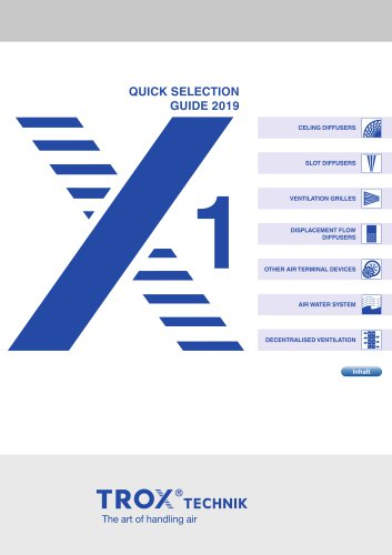 QUICK SELECTION GUIDE 2019 - 1