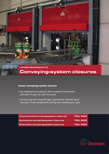 Conveying-system closures