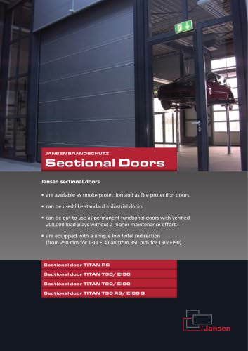 Sectional doors Fire protection