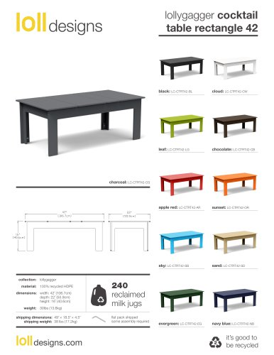 lollygagger cocktail table rectangle 42
