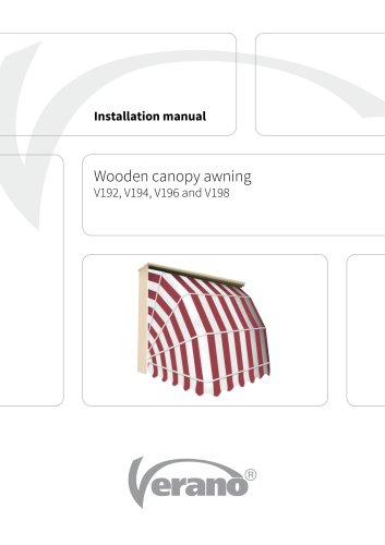 Wooden canopy awning
