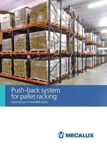 Push-back system for pallet racking