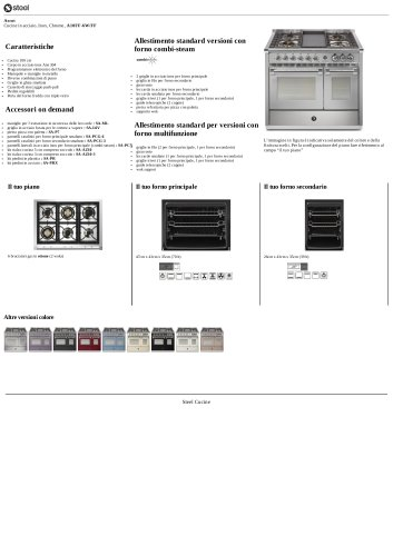 Ascot Cucine in acciaio, Inox, Chrome , A10FF-6W/FF
