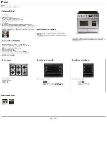 Enfasi Cucine in acciaio, Inox , E10FF-6/F