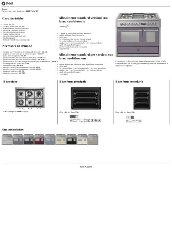 Genesi Cucine in acciaio, Ametista , G10FF-6W/FF