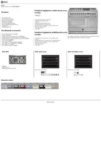Genesi Range Cookers, Inox , G12FF-6M/FF
