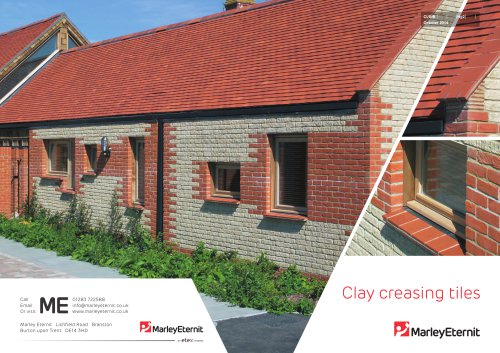 Clay creasing tiles
