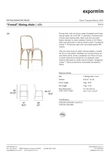 """""""Fontal"""" dining chair"""
