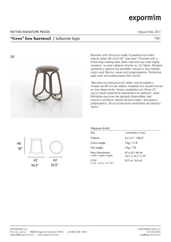 """""""Gres"""" low barstool"""