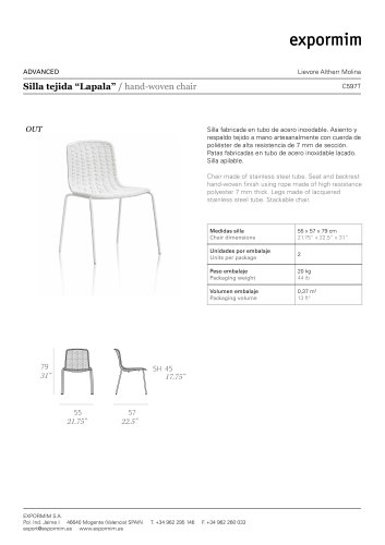 hand-woven chair