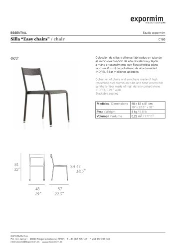OUT:C186 - ?Easy chairs? Chair
