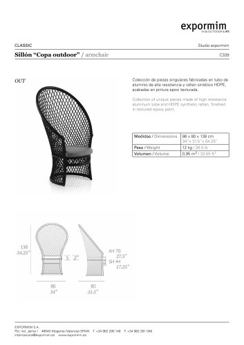 """OUT:""""Copa outdoor"""" Armchair"""