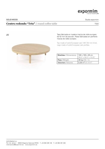 IN:T532 -Trio Round coffee table