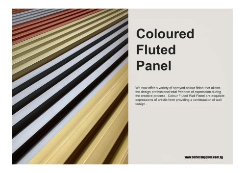 Coloured Fluted Panel