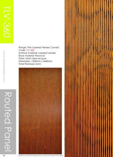 Thin Layered Veneer Carved Panel