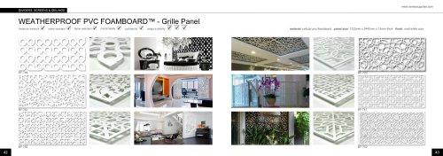 Weatherproof PVC Foamboard - Grille Panel