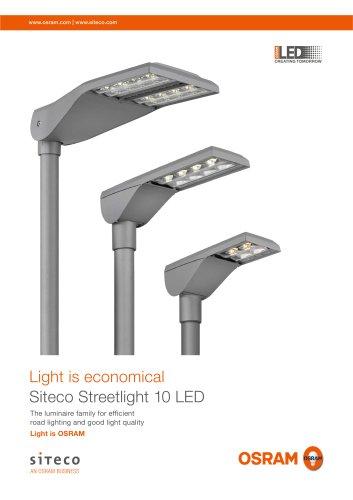 Light is economical Siteco Streetlight 10 LED
