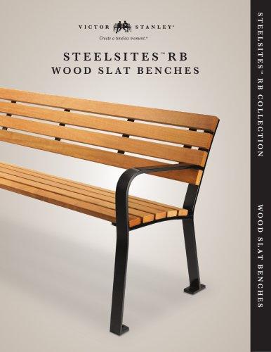 Steelsites RB - Wood Slat Benches