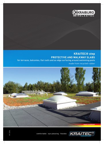 KRAITEC® STEP PROTECTIVE AND WALKWAY SLABS FOR TERRACES, BALCONIES,FLAT ROOFS AND AS EDGE AROUND SWIMMING POOLS