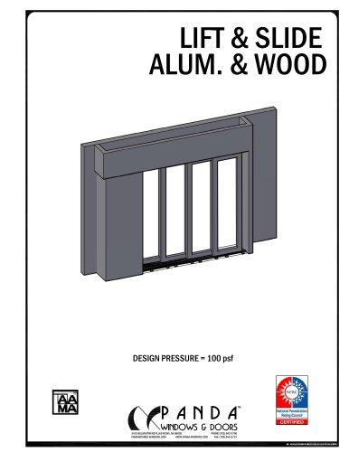 Lift & Slide alum. & wood