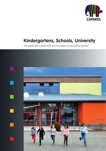 Kindergartens, Schools, University